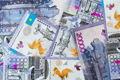 Billetes de banco del tenge de Kazakhstani Imagenes de archivo
