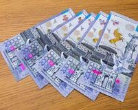 Billetes de banco del tenge de Kazakhstani Foto de archivo libre de regalías