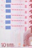 Billetes de banco de 10 euros. Imagen de archivo libre de regalías