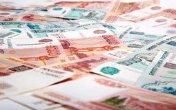 Billetes de banco en la tabla Imagen de archivo libre de regalías
