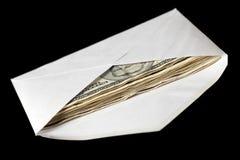 Billetes de banco en sobre Foto de archivo libre de regalías