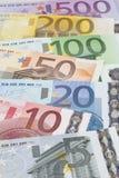 Billetes de banco euro Fotos de archivo