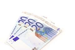 Billetes de banco euro Imágenes de archivo libres de regalías