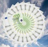 Billetes de banco euro. Imagen de archivo libre de regalías