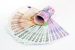 Billetes de banco euro Foto de archivo