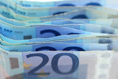 20 billetes de banco euro Foto de archivo
