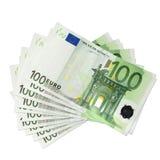 Billetes de banco euro foto de archivo libre de regalías
