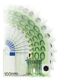 Billetes de banco euro ilustración del vector