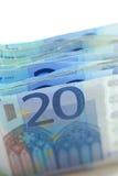20 billetes de banco euro Fotografía de archivo libre de regalías