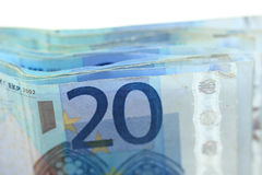 20 billetes de banco euro Imagen de archivo libre de regalías