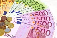 Billetes de banco euro Fotos de archivo libres de regalías