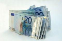 20 billetes de banco euro Fotos de archivo libres de regalías