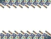 Billetes de banco euro. Background.20 horizontal. Imágenes de archivo libres de regalías