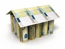 200 billetes de banco euro del balanceo Foto de archivo libre de regalías
