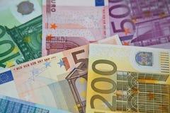 Billetes de banco euro del dinero Fotografía de archivo