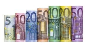 Billetes de banco euro del dinero Imagen de archivo libre de regalías