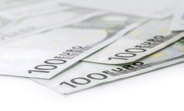 100 billetes de banco euro del euro de las cuentas Fotografía de archivo libre de regalías