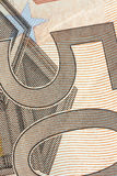 Billetes de banco euro, detallados en nuevos cincuenta billetes de banco euro Fotografía de archivo libre de regalías