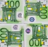 Billetes de banco euro 100 EUR Fotografía de archivo
