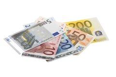 Billetes de banco euro extensos Fotografía de archivo libre de regalías