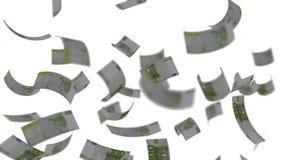 Billetes de banco euro que caen como la lluvia ilustración del vector