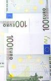 Billetes de banco euro 100's Imagen de archivo libre de regalías