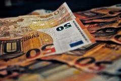 Billetes de banco de 50 euros fotos de archivo libres de regalías