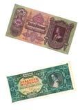 Billetes de banco húngaros viejos Imagen de archivo libre de regalías