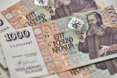 Billetes de banco de la corona islandesa Imagenes de archivo