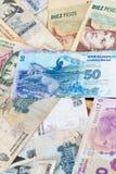 Billetes de banco latinoamericanos Fotos de archivo