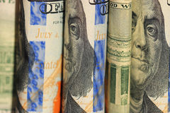 Billetes de banco los E.E.U.U. del fragmento Imagen de archivo libre de regalías