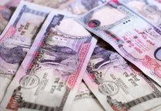 Billetes de banco nepaleses Imagen de archivo libre de regalías