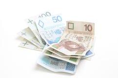 Billetes de banco polacos de la moneda Fotografía de archivo libre de regalías