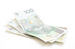 Billetes de banco polacos de la moneda Imágenes de archivo libres de regalías
