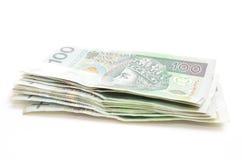 Billetes de banco polacos de la moneda Fotos de archivo