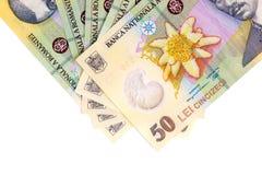 Billetes de banco rumanos imagen de archivo libre de regalías
