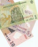 Billetes de banco rumanos Imagen de archivo