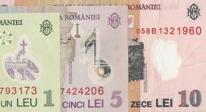 Billetes de banco rumanos Imagenes de archivo