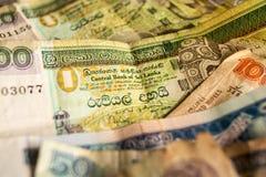 Billetes de banco srilanqueses fotos de archivo libres de regalías