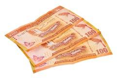 Billetes de banco srilanqueses de 100 rupias Fotos de archivo libres de regalías