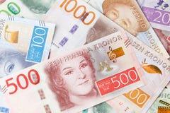 Billetes de banco suecos Fotografía de archivo libre de regalías