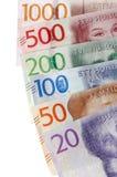 Billetes de banco suecos de la moneda Foto de archivo