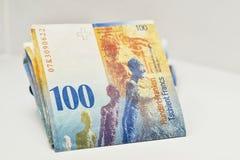 Billetes de banco suizos del dinero en circulación Fotografía de archivo