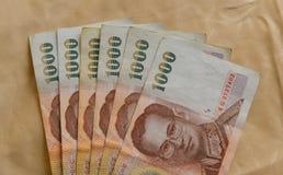Billetes de banco tailandeses del baño Fotografía de archivo libre de regalías