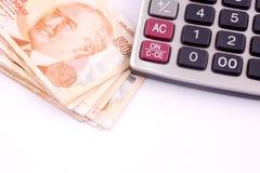 Billetes de banco turcos Foto de archivo libre de regalías