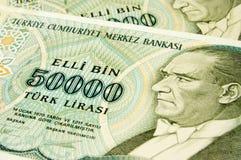 Billetes de banco turcos imagen de archivo libre de regalías