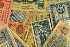 Billetes de banco viejos Fotografía de archivo