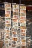 billetes de banco viejos y nuevos del kyat Foto de archivo libre de regalías