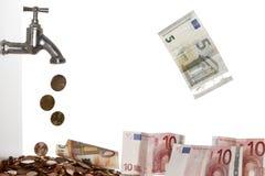 Billetes de banco y monedas Fotos de archivo libres de regalías