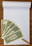 Billetes de banco y papel de carta imagen de archivo libre de regalías